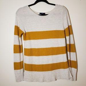 Gap Knit Striped Yellow Top